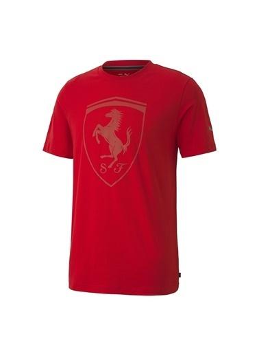 Puma Puma 59793502 Ferrari Style Big Shield+Erkek T-Shirt Kırmızı